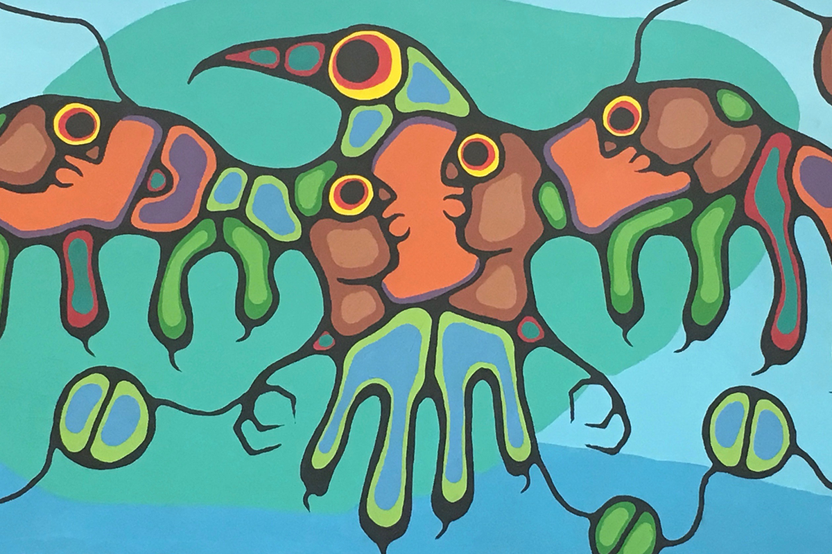 Artwork by Norval Morriseau