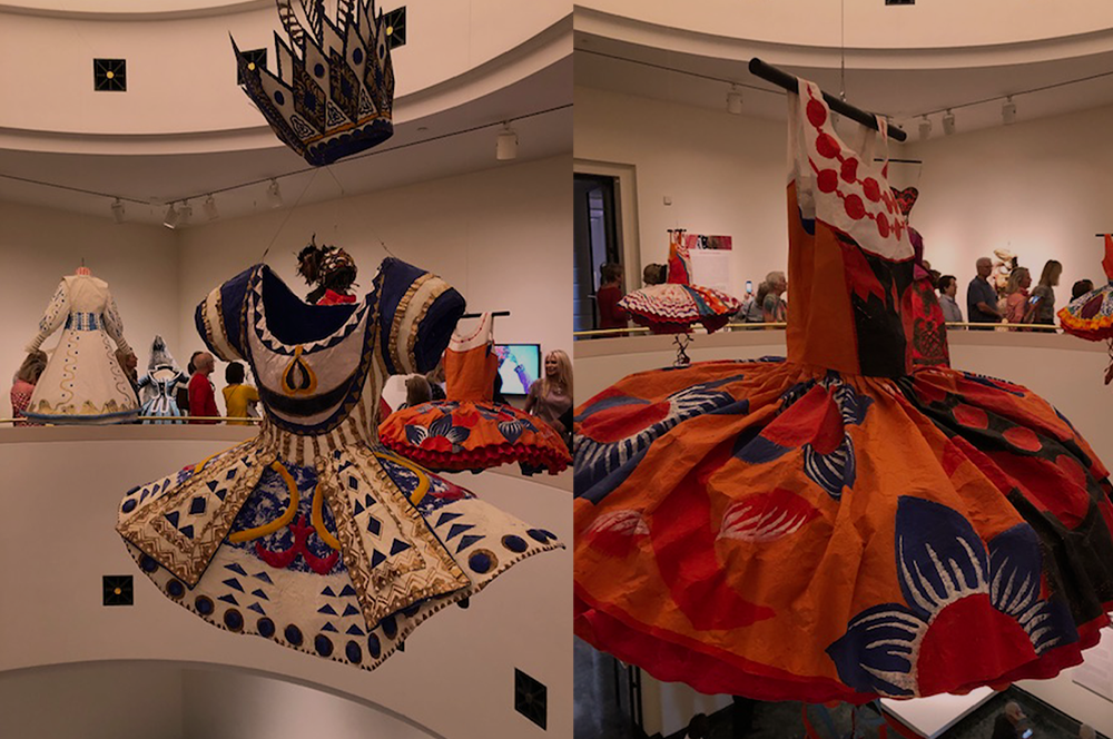 fashioning art from paper banner